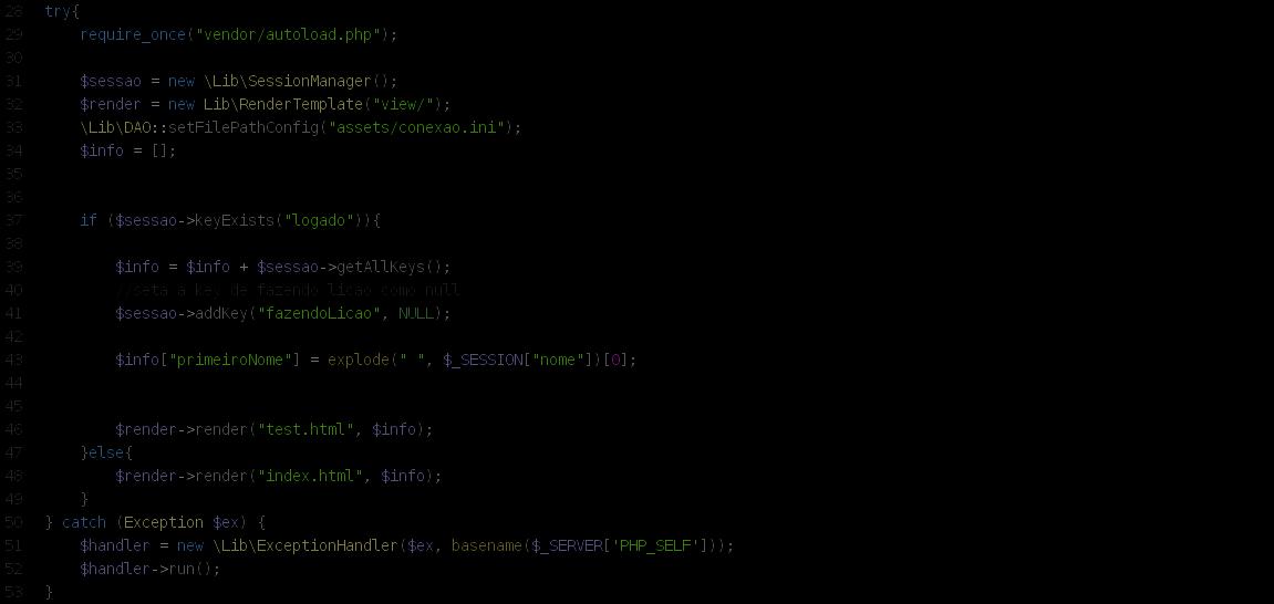 Imagem ilustrando um código